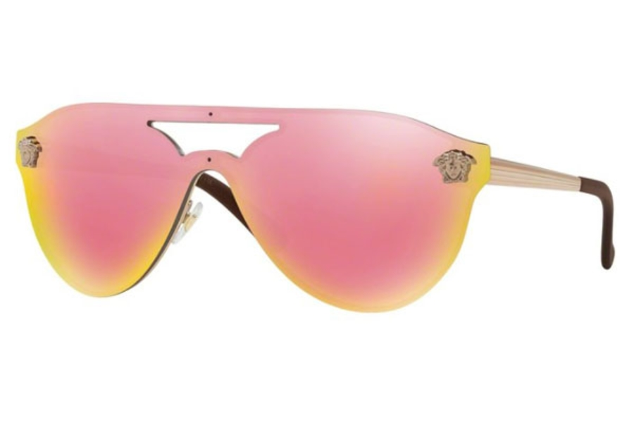 Versace VE 2161 Sunglasses in 10524Z Copper / Grey Mirror Yellow Rose