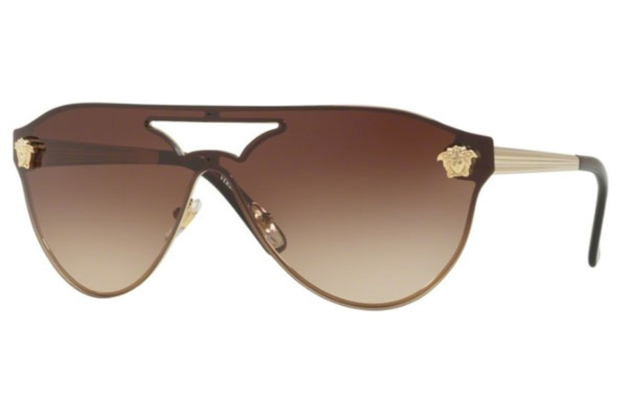 Versace VE 2161 Sunglasses in 125213 Pale Gold / Brown Gradient