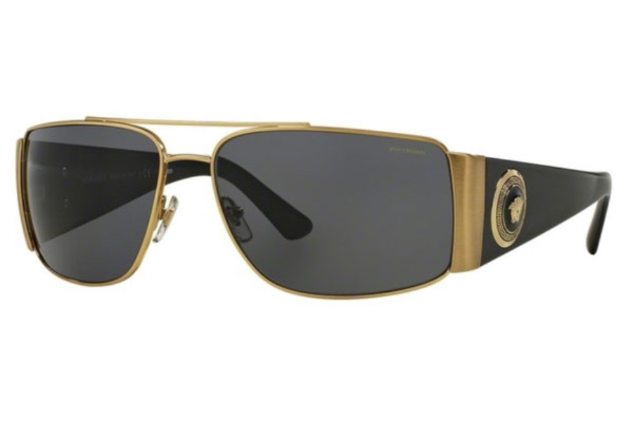 Versace VE 2163 Sunglasses in 100281 Gold / Polar Grey