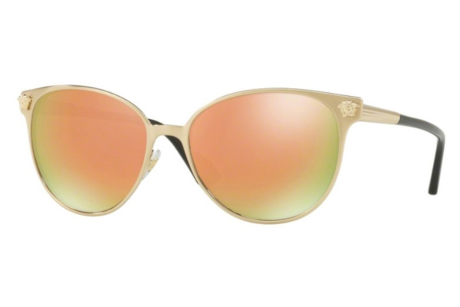 eeca1e52f0 ... Versace VE 2168 Sunglasses in 13394Z Brushed Pale Gold   Grey Mirror  Rose Gold ...