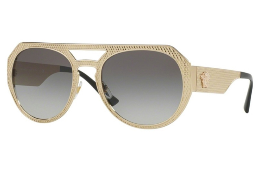 Versace VE 2175 Sunglasses in 125211 Pale Gold / Grey Gradient