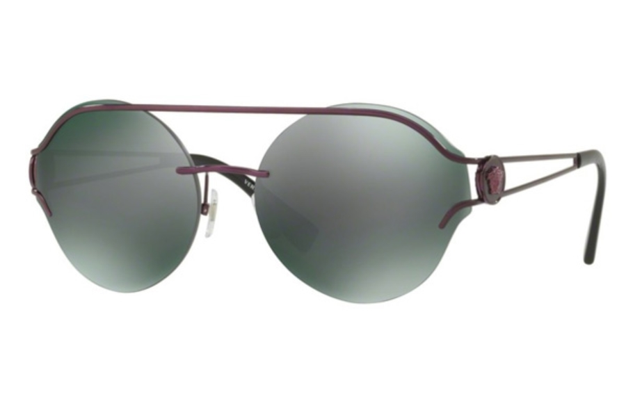 Versace VE 2184 Sunglasses in 1414C0 Violet / Dark Grey Mirror Green