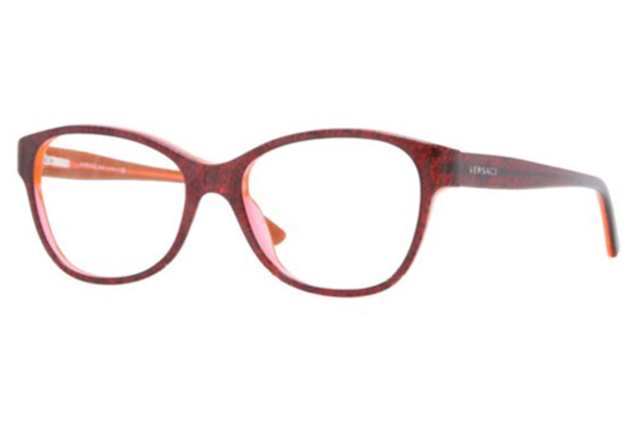 Versace VE 3188A Eyeglasses in 5089 Baroque Bord Tr/Orange Tr