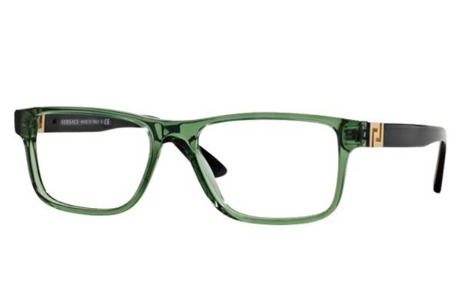 99bf6163c5ad4 Versace VE 3211 Eyeglasses in 5144 Transparent Green (55 eye size only) ...
