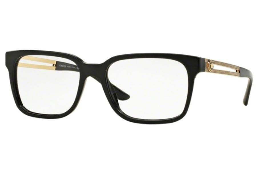 bbc2dca39fae ... Versace VE 3218 Eyeglasses in GB1 Black (53 Eyesize Only) ...