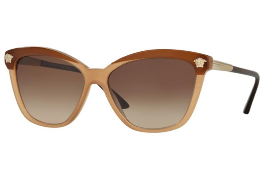 4702c569cd2 ... Versace VE 4313 Sunglasses in 517813 Brown Beige   Brown Gradient ...