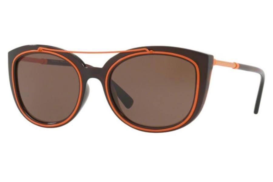 2cfa6c4f9660 ... Versace VE 4336 Sunglasses in 509373 Transparent Brown   Brown ...
