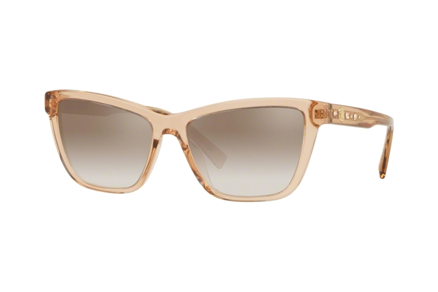 Versace VE 4354BA Sunglasses in 524194 Transparent Brown w/Gradient Brown Mirror Silver