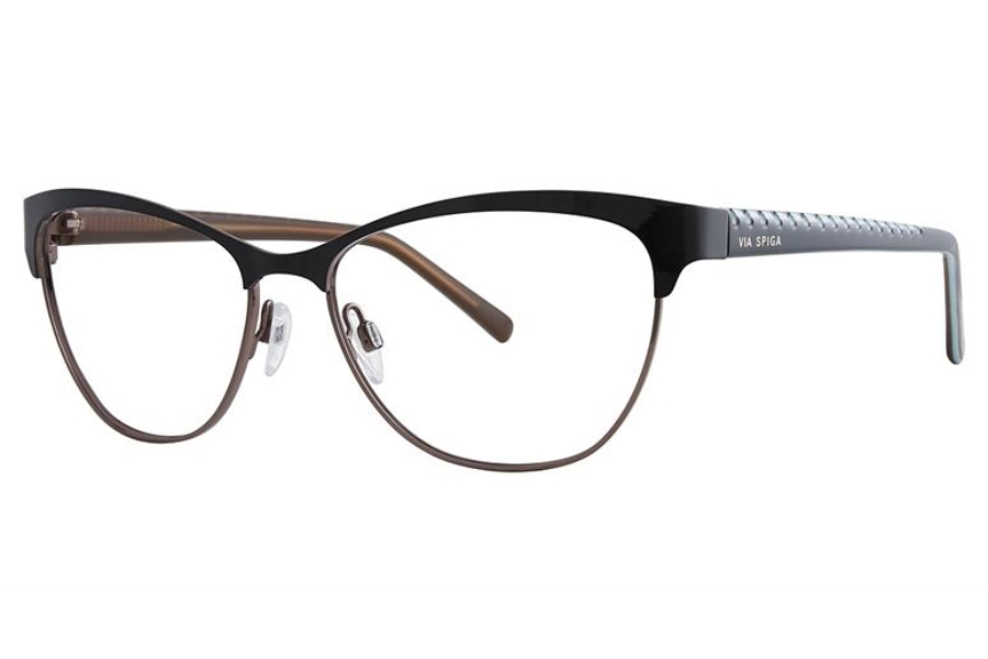 Via Spiga Via Spiga Regina Eyeglasses in 500 Black/Tan