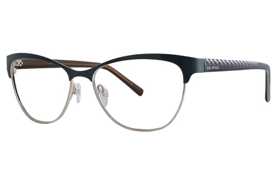 Via Spiga Via Spiga Regina Eyeglasses in 800 Teal/Gold