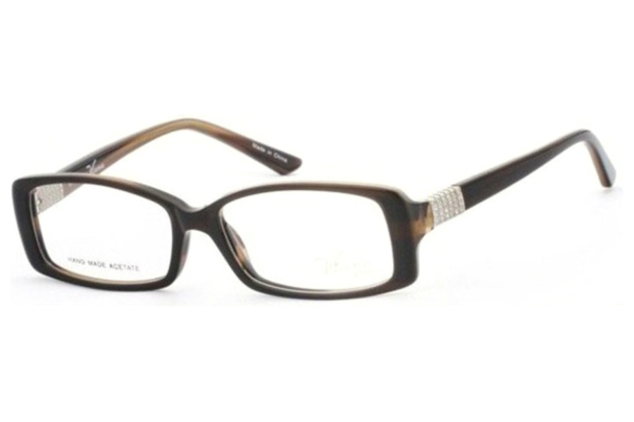 Viana V1003 Eyeglasses in C3 Brown horn