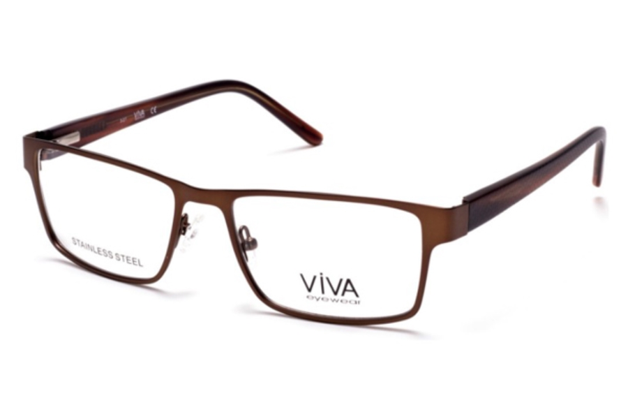 Viva VV4035 Eyeglasses in 049 - Matte Dark Brown
