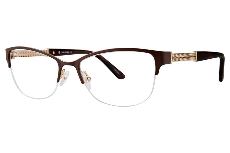 Vivid Boutique VIVID Boutique 5017 Eyeglasses in Matt Brown/Gold