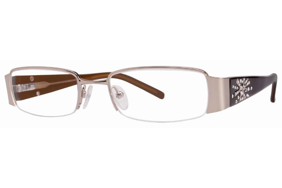 Vivid Boutique VIVID Boutique 5011 Eyeglasses in 37 Toffee/Cream