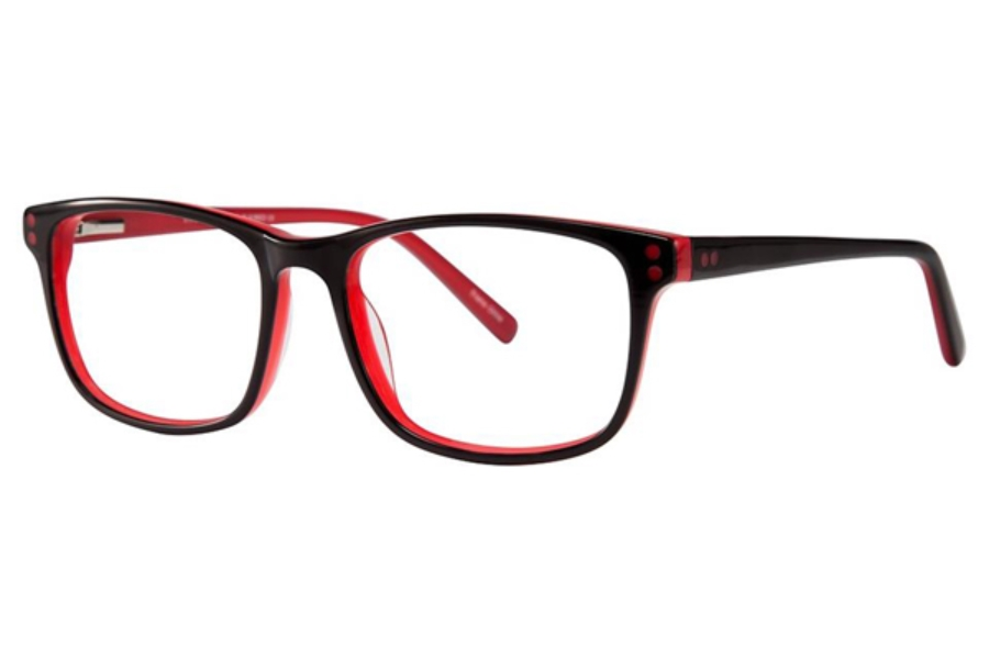 Vivid Fashion Acetate 858 Eyeglasses in Black/With Red