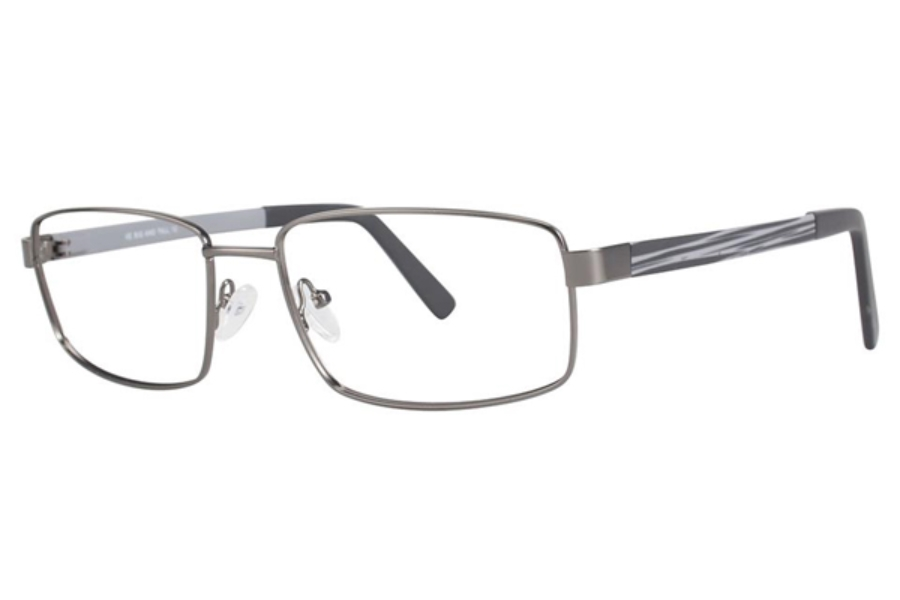 Big and Tall Big and Tall 12 Eyeglasses in Gunmetal/Grey