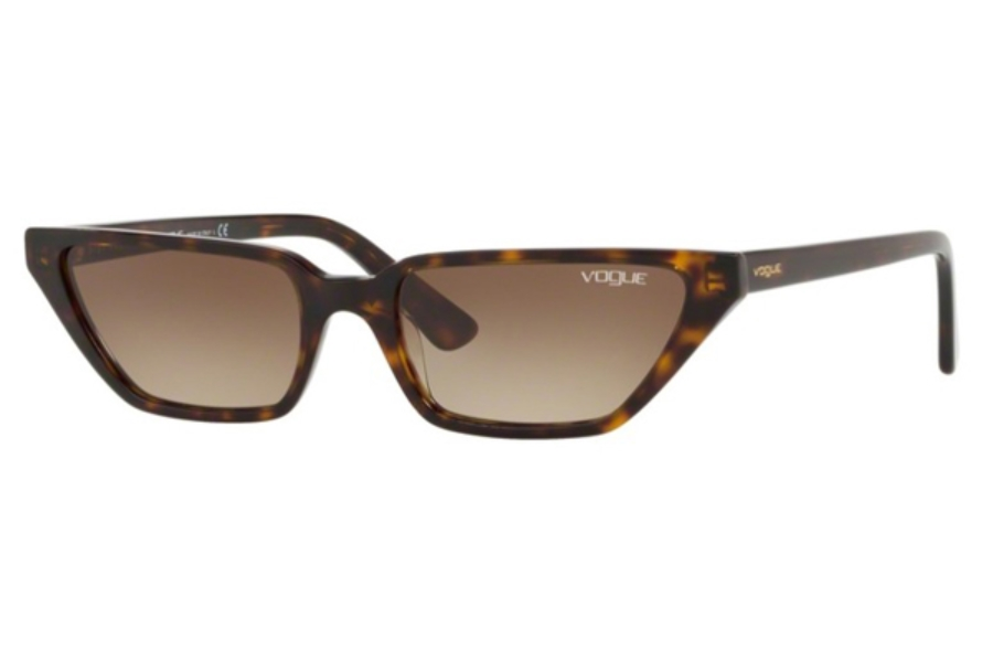 Vogue VO 5235S Sunglasses in W65613 Dark Havana / Brown Gradient