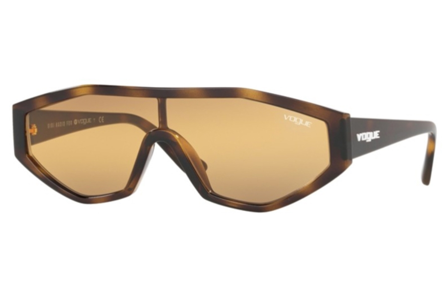 Vogue VO 5284S Sunglasses in 27180L Dark Havana / Orange Gradient Grey Gradient