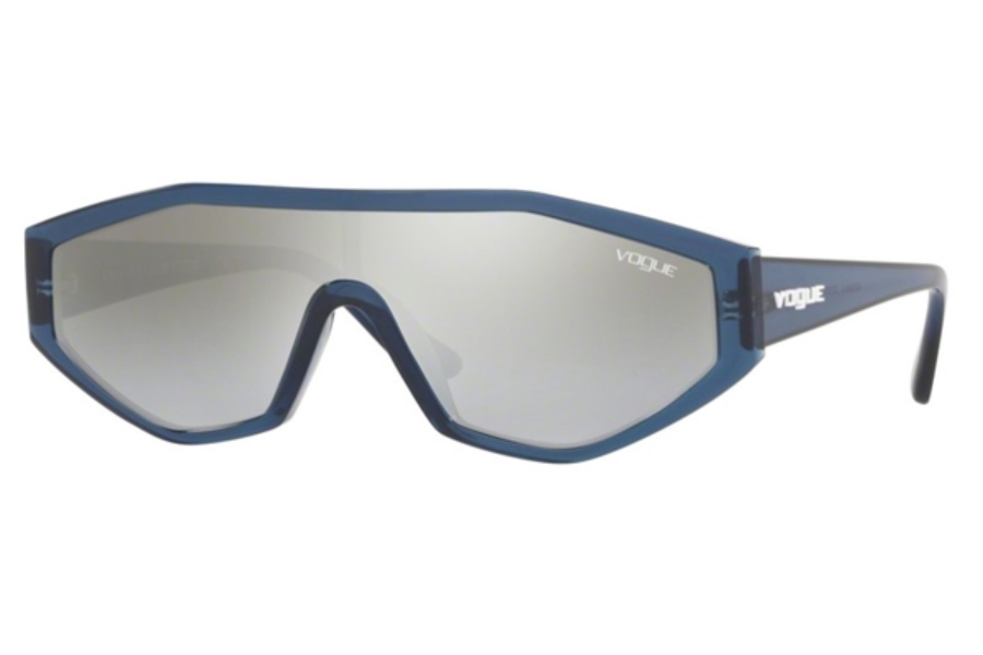Vogue VO 5284S Sunglasses in 27206V Transparent Blue / Light Grey Mirror Silver Grad