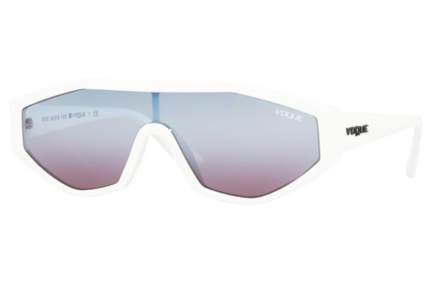 Vogue VO 5284S Sunglasses in 27210K White / Gradient Blue Gradient Violet