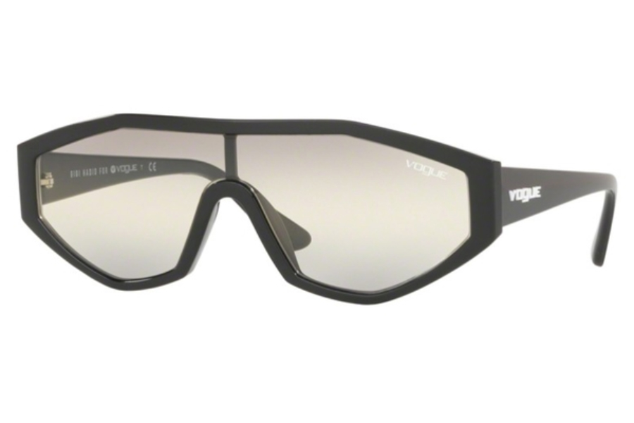 Vogue VO 5284S Sunglasses in W44/AE Black / Yellow Gradient Grey Gradient