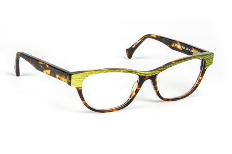 Volte Face Paris Dolphine Eyeglasses in 4590 Olive Green / Demi