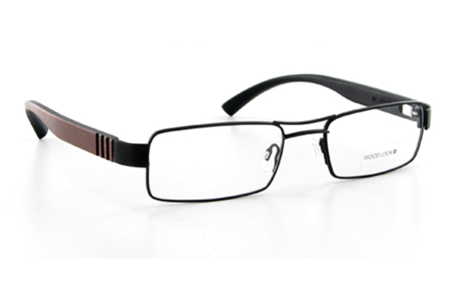 Wood Look by Gold & Wood WL011 (Wood Temples) Eyeglasses in Wood Look by Gold & Wood WL011 (Wood Temples) Eyeglasses