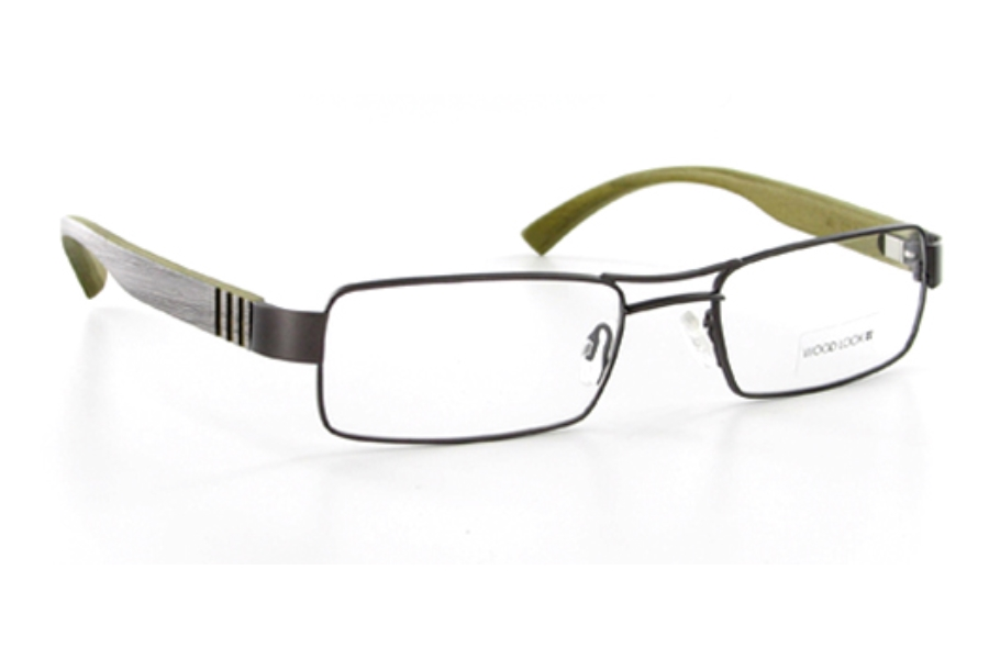 Wood Look by Gold & Wood WL011 (Wood Temples) Eyeglasses in 015 Taupe Grey