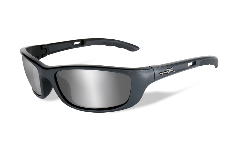 Wiley X P-17 Sunglasses in P-17T Gunmetal Grey w/ Silver Flash Lenses