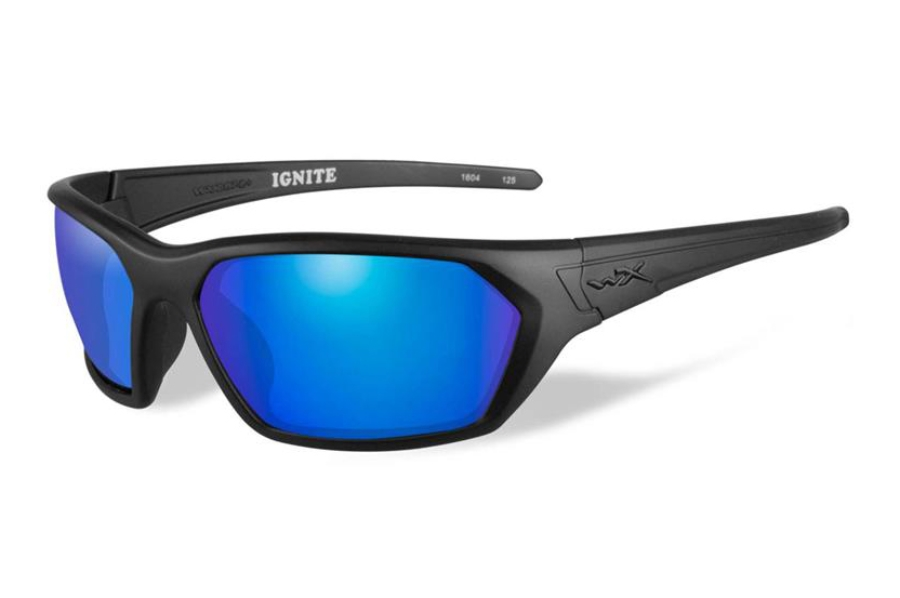 Wiley X WX IGNITE Sunglasses in ACIGN09 Matte Black/ Blue Mirror Polarized Lens