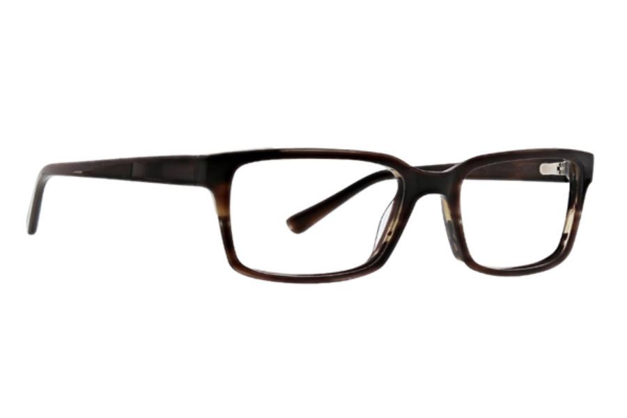 Argyleculture by Russell Simmons Shorter Eyeglasses in Brown Horn