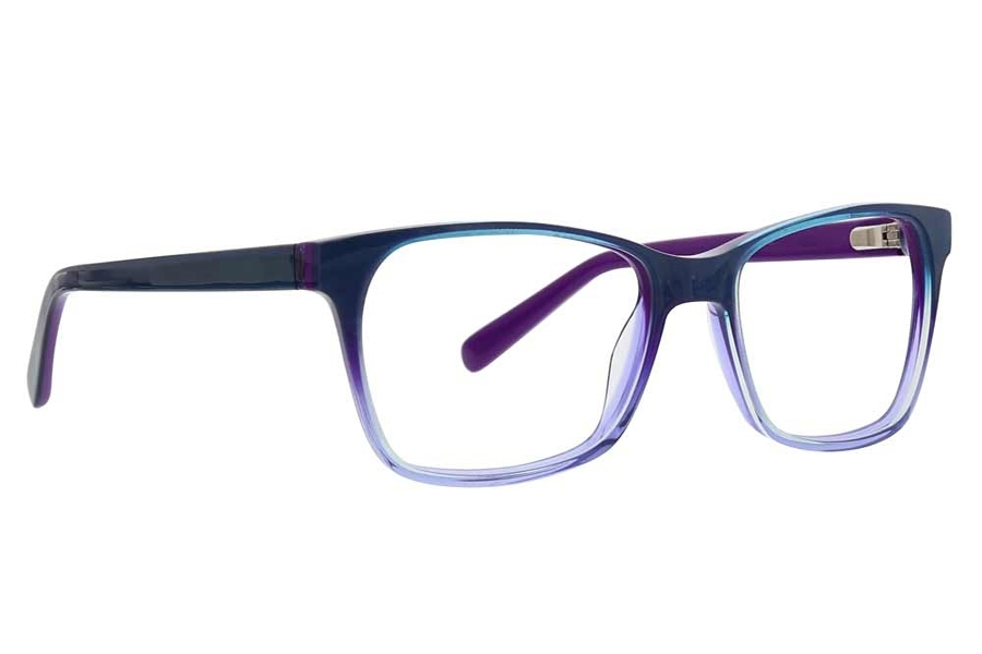 XOXO Portico Eyeglasses in Teal/Purple