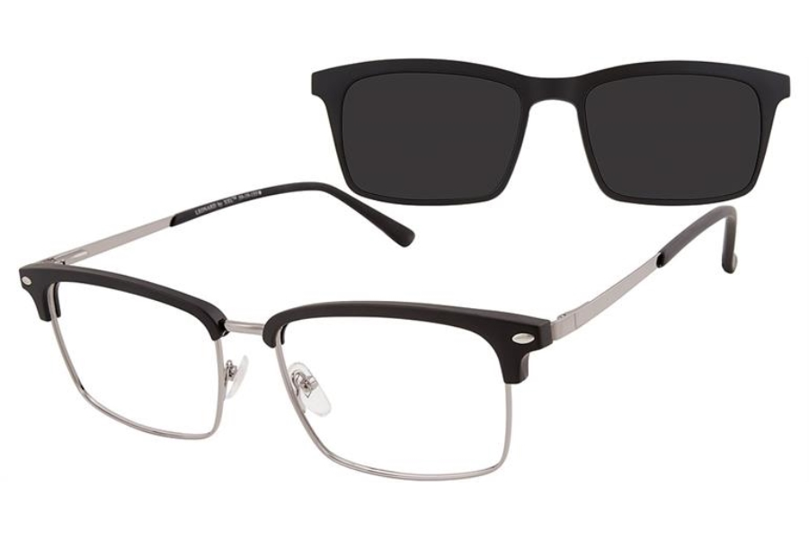 XXL Leonard w/ Magnetic Clip-On Eyeglasses in XXL Leonard w/ Magnetic Clip-On Eyeglasses