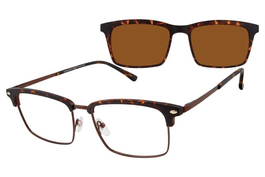 XXL Leonard w/ Magnetic Clip-On Eyeglasses in Tortoise
