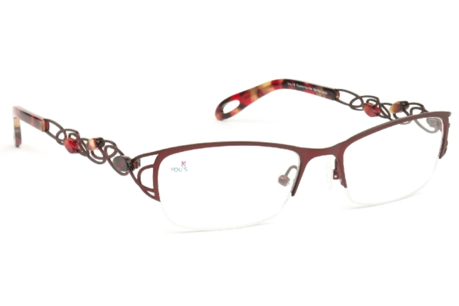 YOU'S 856 Eyeglasses in 205 Wine Red