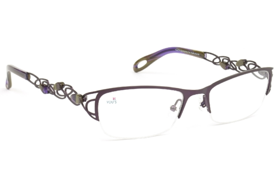 YOU'S 856 Eyeglasses in 60 Purple