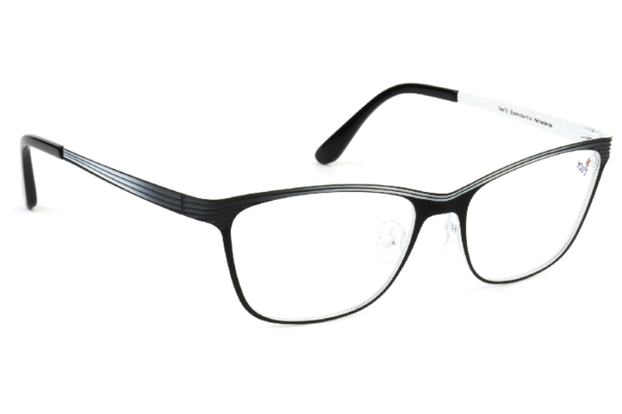 YOU'S 970 Eyeglasses in 100 Black/White