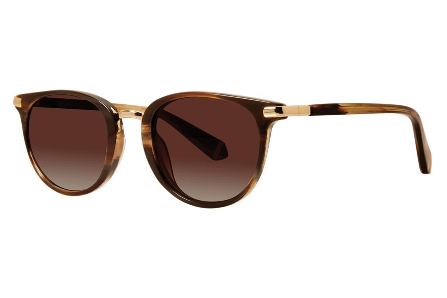 Zac Posen Dayle Sun Sunglasses in Brown Horn