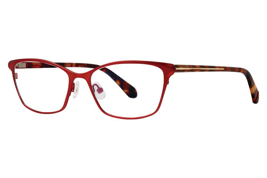 Zac Posen Sabra Eyeglasses in Ruby