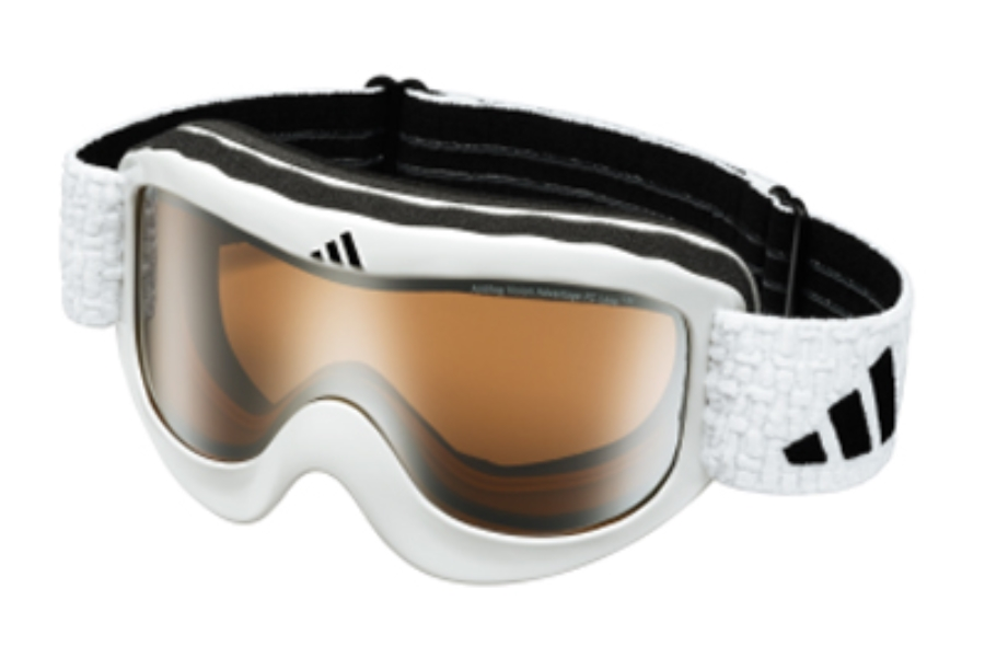 Adidas a183 Pinner Goggles in 6052 White w/ LST Bright Mirror Lenses