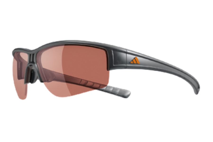 Adidas a410 Evil Cross Halfrim L Sunglasses in 6051 Grey Transparent w/ LST Vario Lenses (Discontinued)