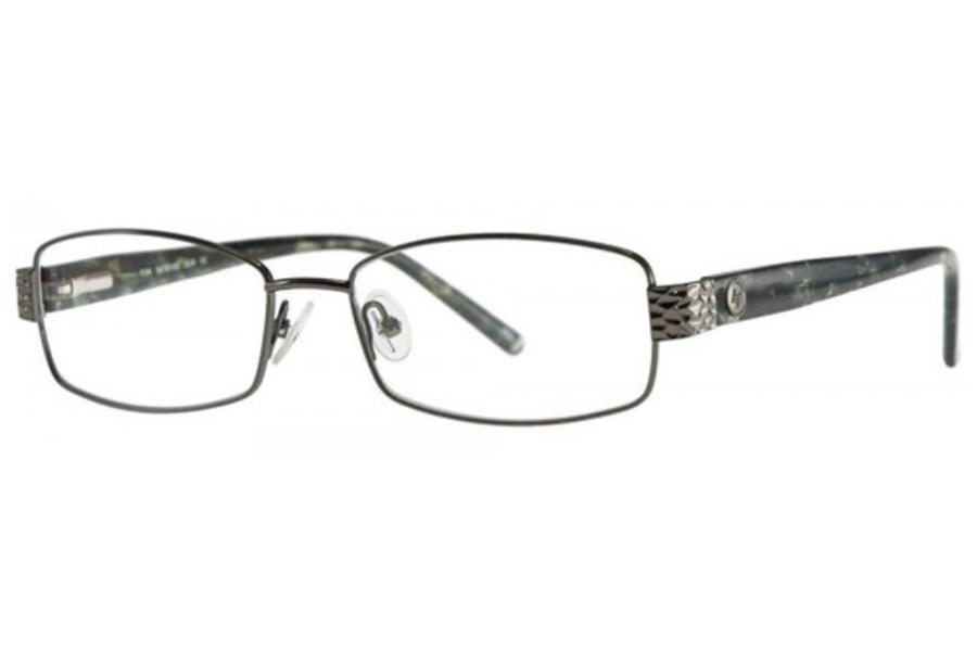 e2a3d08e6c Adrienne Vittadini AV1134 Eyeglasses in Gunmetal ...