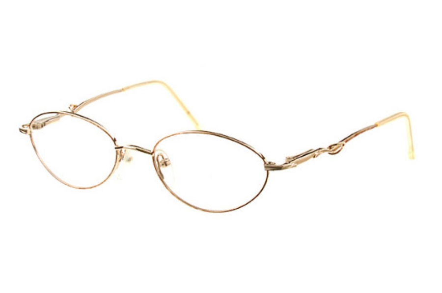 Amadeus AL12 Eyeglasses in 51G23 Gold/Oak