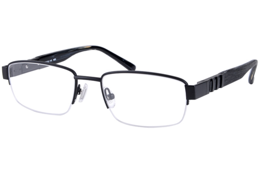 Amadeus A966 Eyeglasses in MBK Matte Black