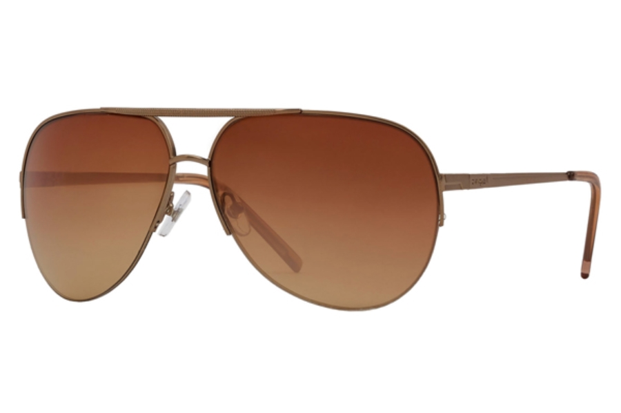 Anarchy Cece Sunglasses in Soft Taupe / Copper Platinum / Gradient Mirror Lenses