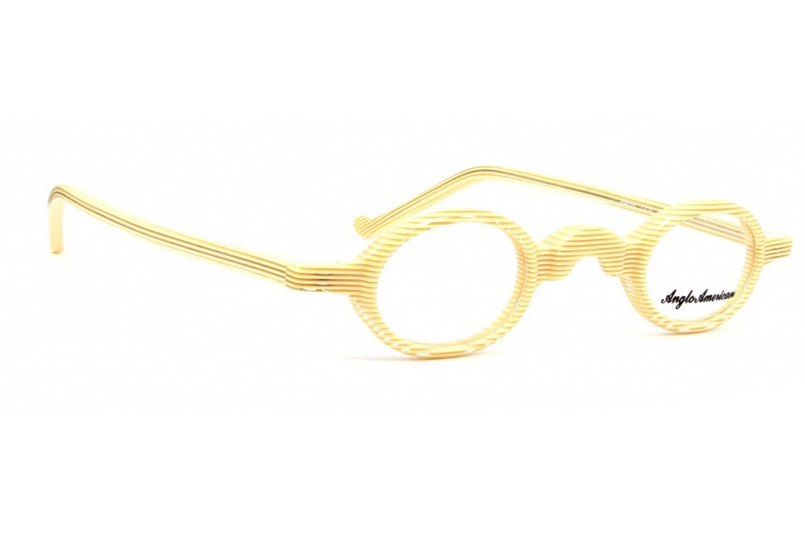 Anglo American Harpo Eyeglasses in CCS - Cream with Crystal Stripe