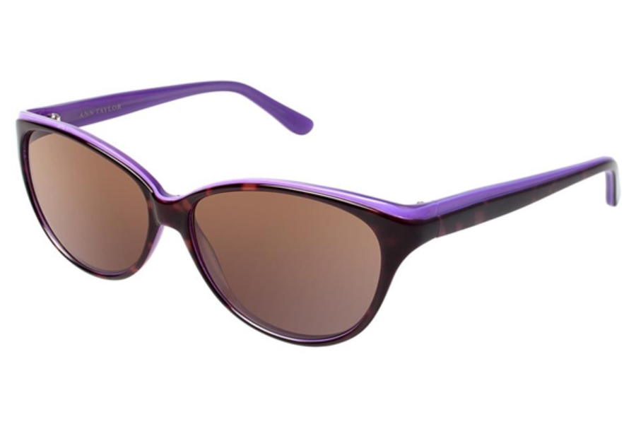 Ann Taylor AT505 Sunglasses in C01 Tortoise / Burgundy