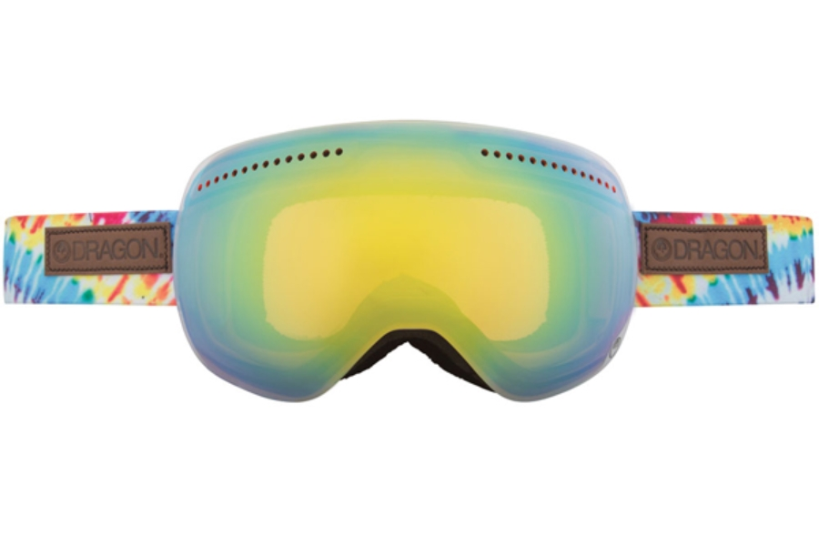 Dragon ADVANCED PROJECTS X - Continued Goggles in TIE DYE /GOLD ION + YELLOW BLUE ION