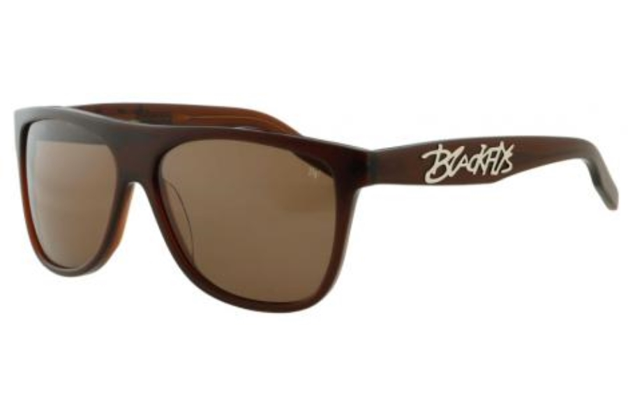 Black Flys FLY JOHNSON Sunglasses in Shiny Brown w/ Brown Lens