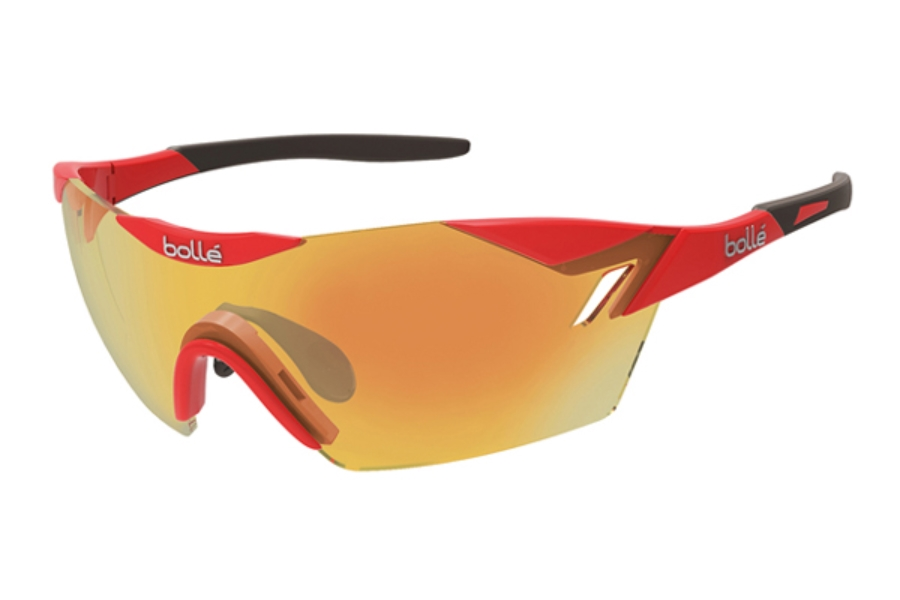 Bolle 6th Sense Sunglasses in 11841 Shiny Red - Gray w/ TNS Fire Oleo AF Lenses
